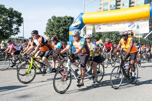 Cyclists begin their route along Witherspoon Street during the Mayor's Hike, Bike and Paddle. 9/5/16