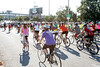 Hundreds of cyclists participate in the Mayor's Hike, Bike and Paddle on Monday morning. 9/5/16