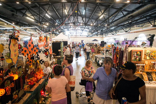 Indoor booths at the September Art Fair featured the creative output and craftsmanship of several regional artists and vendors. 9/10/16