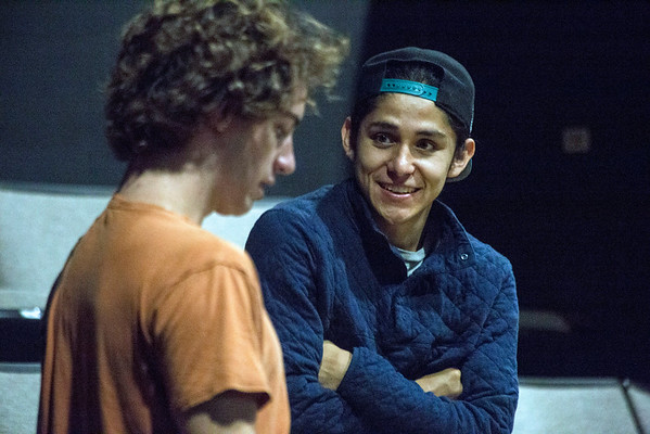 Andres Chaves and Sam Wisenden reherase for an upcoming play as members of the Actors Theatre Professional Training Company. 9/11/16