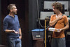 Director Michael Legg works with actor Sam Wisenden during a rehearsal in the Victor Jory Theatre as part of the Actors Theatre Professional Training Company. 9/11/16