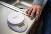 Strict adherence to a 1700-calories-a-day diet included usage of a digital scale for Hank Benningfield. His discipline resulted in the loss of 44-pounds in nine months. 9/12/16