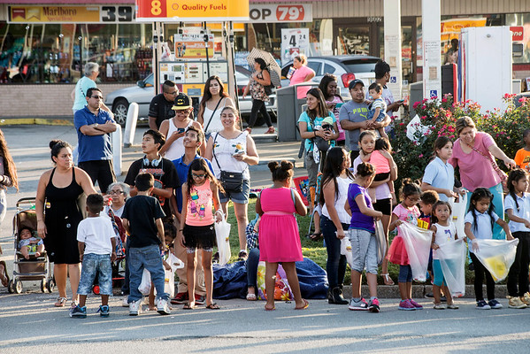 People of all ages line the sidewalks along Taylorsville Road to enjoy the Gaslight Festival Parade on Thursday afternoon. 9/15/16