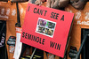 Inside jokes and play on words were common approaches to the sign-making on display during the broadcast of ESPN's College GameDay before the UofL vs FSU game at Papa John's Stadium on Saturday. 9/17/16