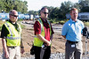 John Goldman and Jeremy Kremer of the Louisville and Indiana Railroad are joined by Mike Halston of CSX for a Tuesday morning training exercise to acquaint first responders on how rail cars work and how to safely handle railroad incidents. 9/20/16