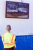 Multiple angles are displayed on a TV in a command tent near the site of a hazardous material spill during a training exercise at a CSX rail yard on Tuesday. 9/20/16