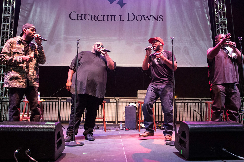 Louisville's own Linkin' Bridge takes to the stage during Downs After Dark on Saturday night. 9/24/16