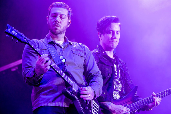 Zacky Vengeance and Synyster Gates of Avenged Sevenfold perform during Louder Than Life. 10/1/16