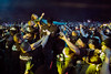 Crowd surfing is done with such regularity at the Louder Than Life Festival that security coordinates their efforts to remove fans engaged in the rowdy activity. 10/1/16