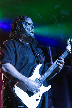 Mick Thompson of Slipknot stares out into the audience at the Louder than Life Festival. 10/2/16