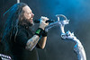 Korn frontman Jonathan Davis lets loose during Louder Than Life on Sunday. 10/2/16