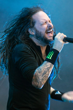 Jonathan Davis of Korn performs at Louder Than Life 2016. 10/2/16