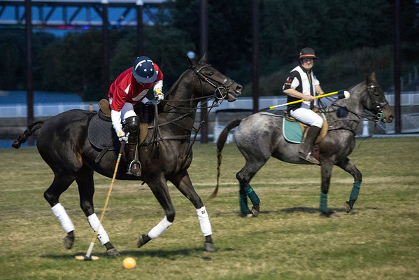Polo players became the latest group to enjoy the expansive lawn and bright lights of Waterfont Park during an exhibition match on Thursday night. 10/13/16