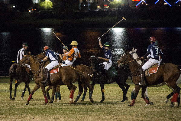 With the Ohio River as a backdrop, the Louisville Polo Club hosted an exhibition match at Waterfront Park on Thursday night. 10/13/16