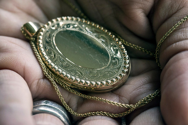 A gold locket owned by Stephanie Miller Slone's late grandmother, Mina Lott Blick, holds a considerable amount of personal value. 10/21/16