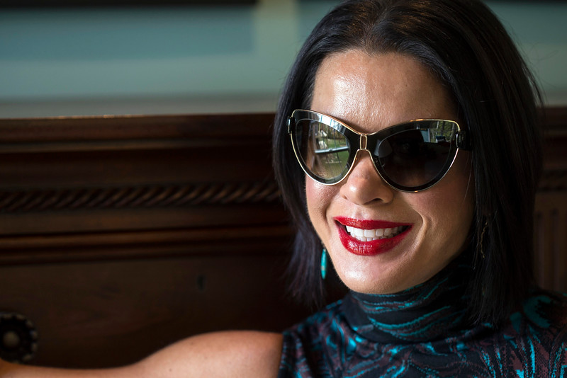 A pair of oversized, cat-eye sunglasses by Balenciaga are one of Stephanie Miller Slone's favorite accessories. 10/21/16