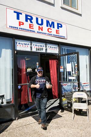 Jeff Klusmeier is the man behind the Trump headquarters in Fern Creek. 10/22/16