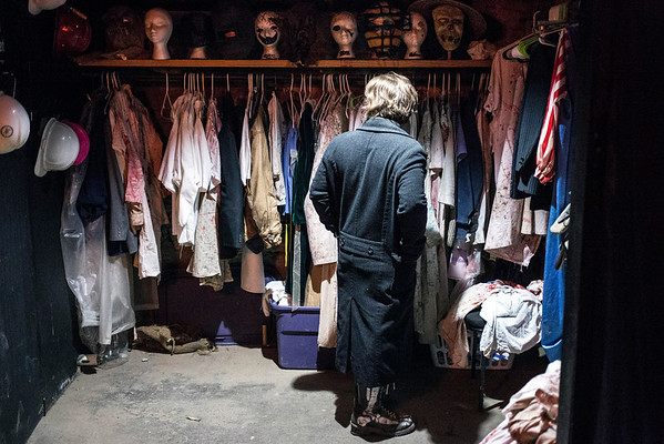 The costume closet in the Baxter Avenue Morgue is loaded with lots of design options. 10/22/16