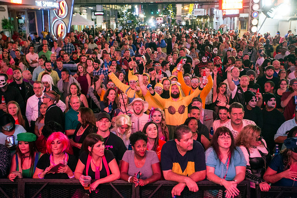 A costumed crowd in the thousands gathered at Fourth Street Live on Saturday night for the venue's annual Halloween Party. 10/29/16