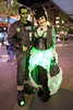 """Sasha Mullins and Dustin Burkhart were dressed as the """"Glamorsteins"""" for the Fourth Street Live Halloween party on Saturday. 10/29/16"""