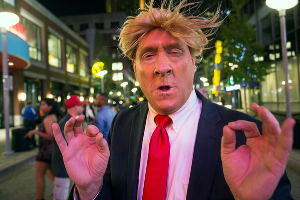 The GOP presidential candidate for President of the United States made a campaign stop at Fourth Street Live during the annual Halloween party. 10/29/16
