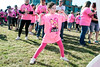 Amber Snoke enjoys the music and sunshine on Sunday during the Making Strides Against Breast Cancer Walk at Waterfront Park. 10/30/16