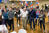 Democrats in New Albany gather in the Knights of Columbus Hall to watch election results on Tuesday night. 11/8/16
