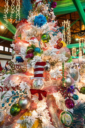A Dr. Seuss themed Christmas tree was rich in color and detail at the 2016 Festival of Trees & Lights. 11/11/16