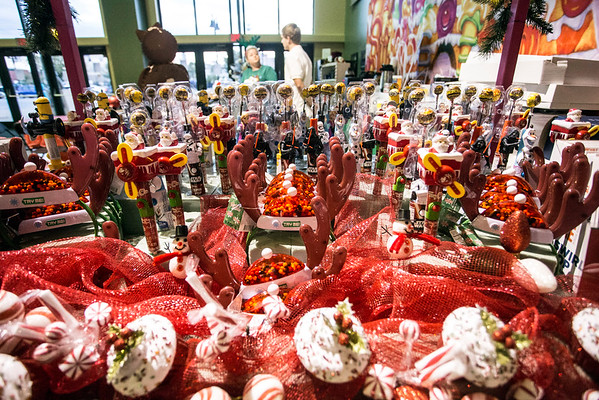 Candy as far as the eye could see was ready for sale and consumption at the Sweet Shop in the 2016 Festival of Trees & Lights. 11/11/16