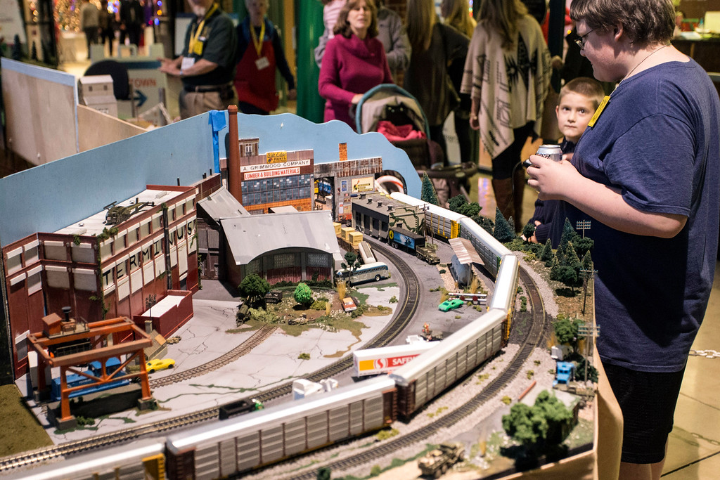 The trains were running on time in the enormous display of miniature tracks at the 2016 Festival of Trees & Lights. 11/11/16