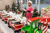 Elf Cheyenne Jones keeps the Peppermint Express running on time for the miniature engineers at Christmas at the Galt House. 11/19/16