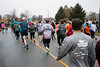 Participants in the 46th Annual Turkey Trot head north along Mill Brook Road to start the 10k. 11/24/16