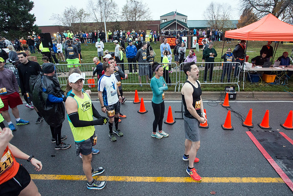 Runners in the 10k portion of the 46th Annual Turkey Trot were urged to get in front of the pack that also included walkers. 11/24/16