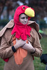 Nick Buzzutto donned a turkey costume to cheer on participants in the 46th Annual Turkey Trot on Thanksgiving morning. 11/24/16