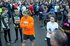 Participants in the 10k course of the 46th Annual Turkey Trot line up near the start before 8AM on Thursday morning. 11/24/16