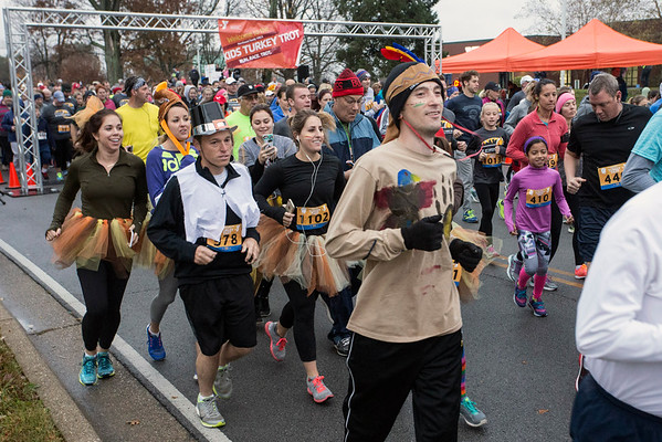 Costumed participants were in the spirit of Thanksgiving for the 46th Annual Turkey Trot at the YMCA Northeast on Thursday morning. 11/24/16
