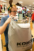 David Remley bags up merchandise for another Kohl's customer on Black Friday. 11/25/16