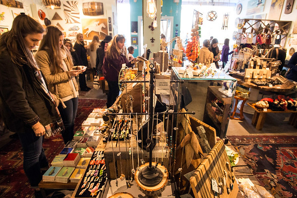 Revelry on East Market Street was busy with shoppers on Small Business Saturday. 11/26/16