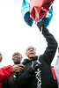 Community activist Chris 2X prepares to launch balloons to honor the victims of Louisville's gun-related fatalities of 2016. 12/3/16