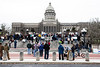 Several hundred protesters rallied on the steps of the Kentucky State Capitol Building in Frankfort on Sunday in opposition to the Dakota Access Pipeline. 12/4/16