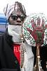 Seneca Thunderkleez Holden stood in opposition to the Dakota Access Pipeline at a Frankfort, KY rally on Sunday. 12/4/16