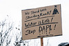 Makeshift signs helped deliver the message during an anti-DAPL rally in Frankfort, KY on Sunday. 12/4/16