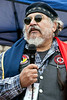 Tom Montezuma addresses the crowd during a Standing with Standing Rock rally in Frankfort on Sunday. 12/4/16