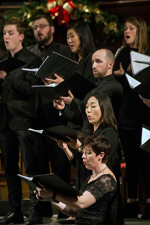 The alto section of the Louisville Chamber Choir performs during the Songs of Christmas Night on Saturday. 12/17/16