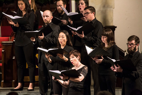 The Louisville Chamber Choir performed a mix of classic Christmas songs on Saturday night at St. Paul United Methodist Church on Bardstown Road. 12/17/16