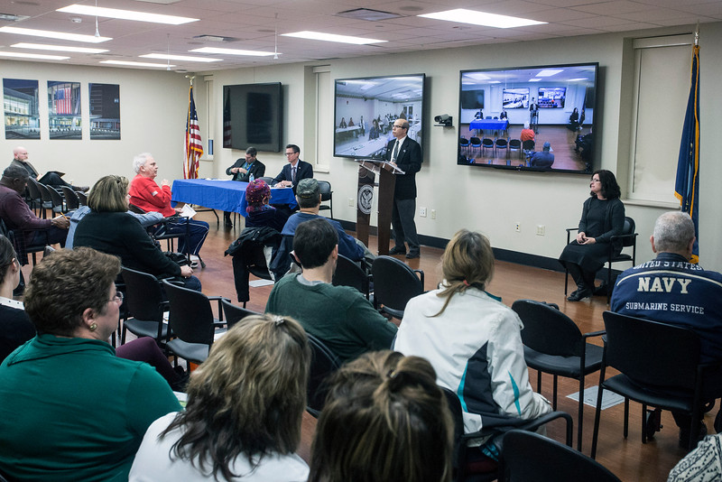 A quarterly Town Hall-style meeting was held at the Robley Rex VA Medical Center on Zorn Ave Tuesday night to address general veteran concerns but with some also wondering about the hospital's next location. 12/20/16