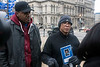 Community activist Christopher 2X, alongside pastor Drumondo Simpson, held a press conference on Wednesday to discuss a viral video from Jefferson Mall of an offensive verbal attack by one customer on another in a checkout line at Penny's. 12/21/16