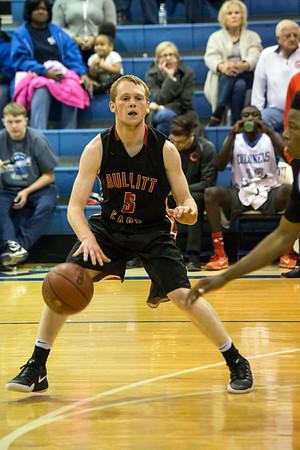Bullitt East's Jared Osborne looks for an open lane against Waggener. 12/21/16