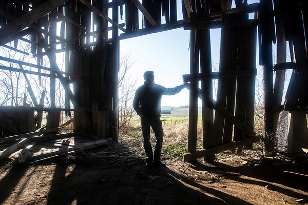 Brian Luftman stands on property his company American Farm Investors manages in Harrodsburg, KY. 12/28/16