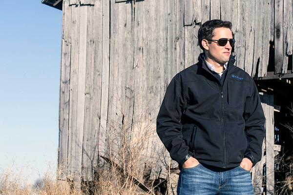 Brian Luftman, founder and president of American Farm Investors, stands in one of his Harrodsburg, KY fields on a crisp Wednesday morning. 12/28/16